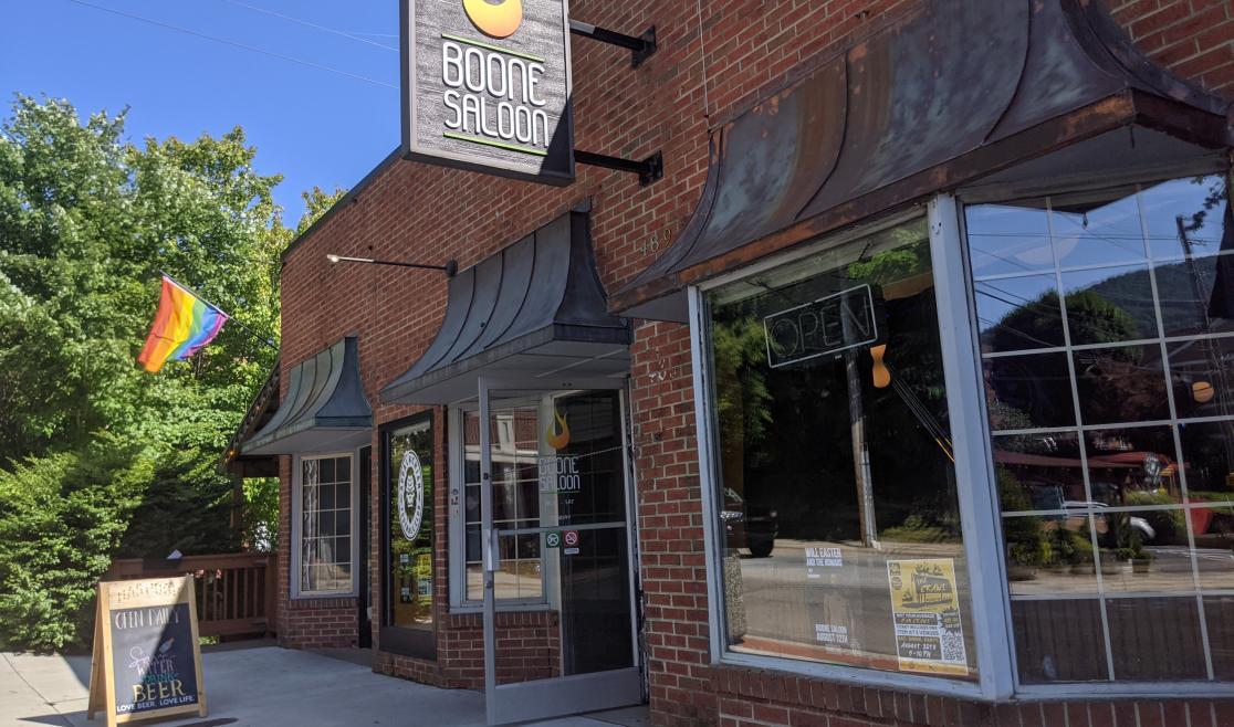Boone Saloon Front Door