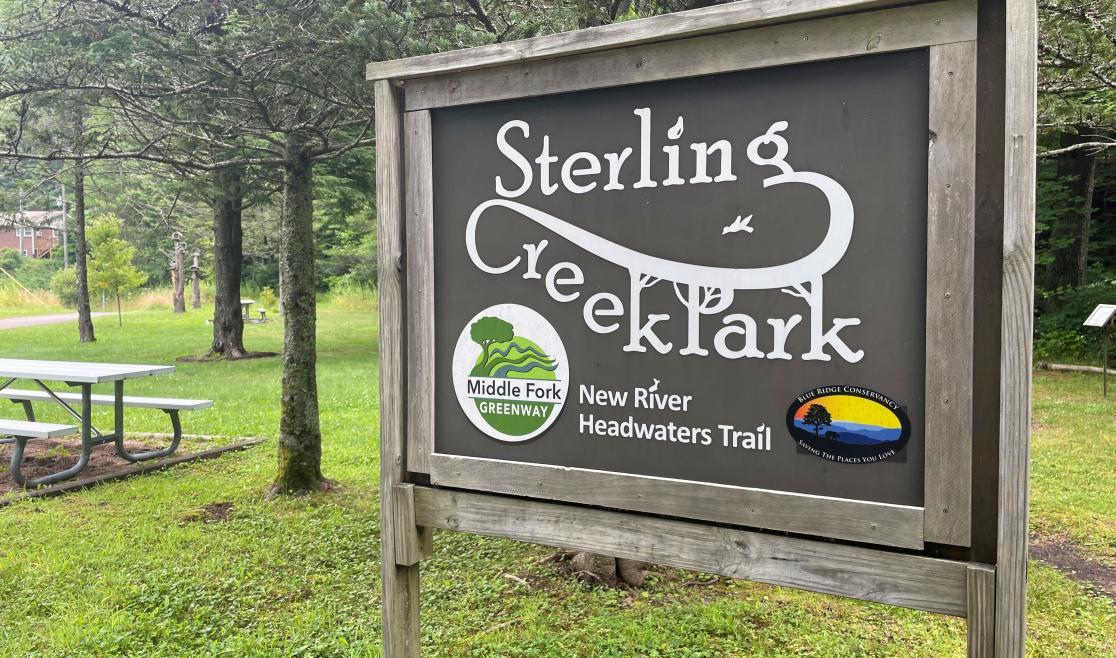 Sterling Creek Park sign