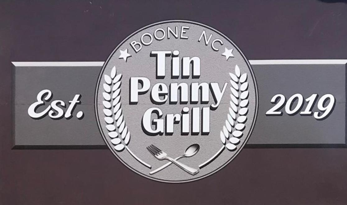Tin Penny Grill Logo Wide