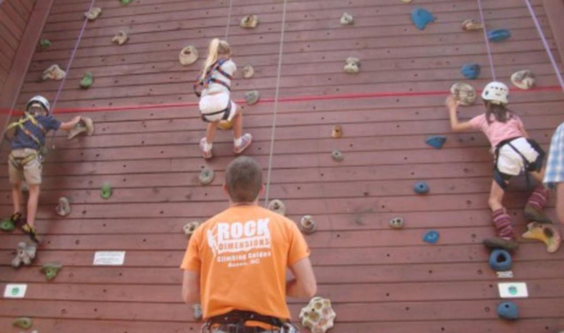 Climbing Tower at Rock Dimensions | Boone, NC