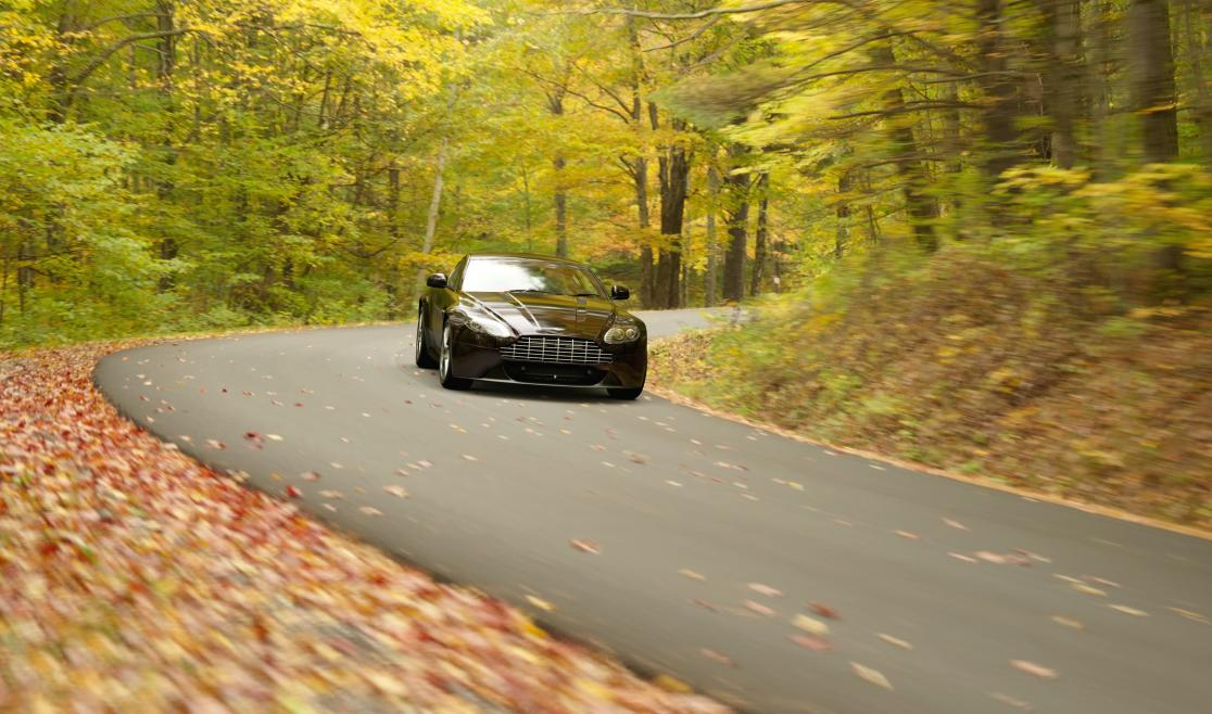 Black car on Winding Road