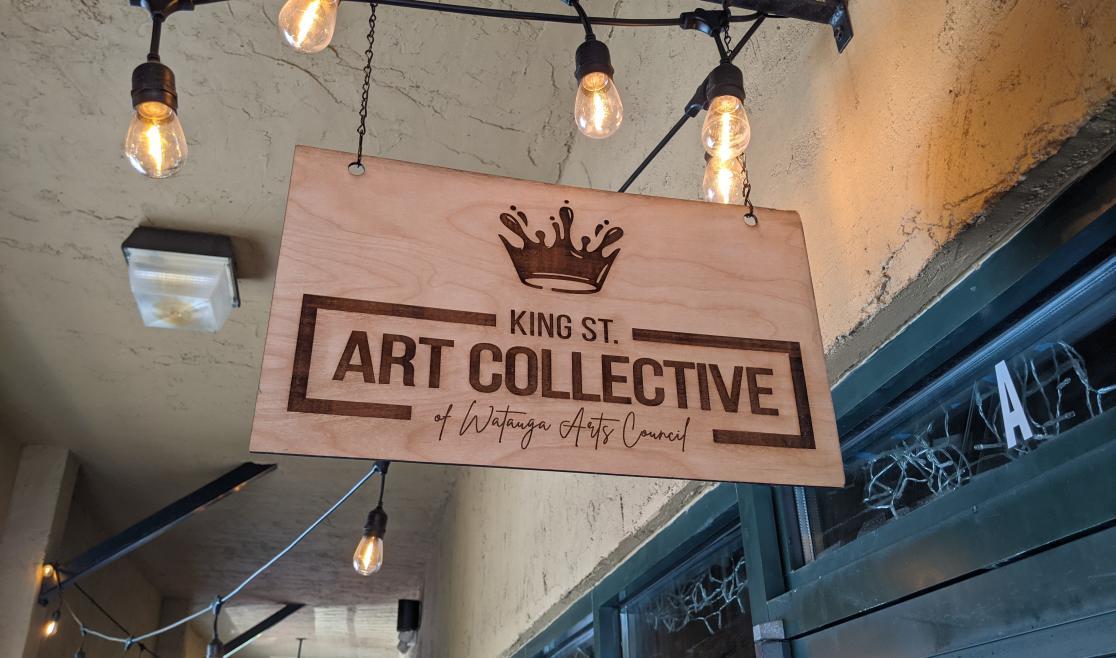 King Street Art Collective Sign Above Door
