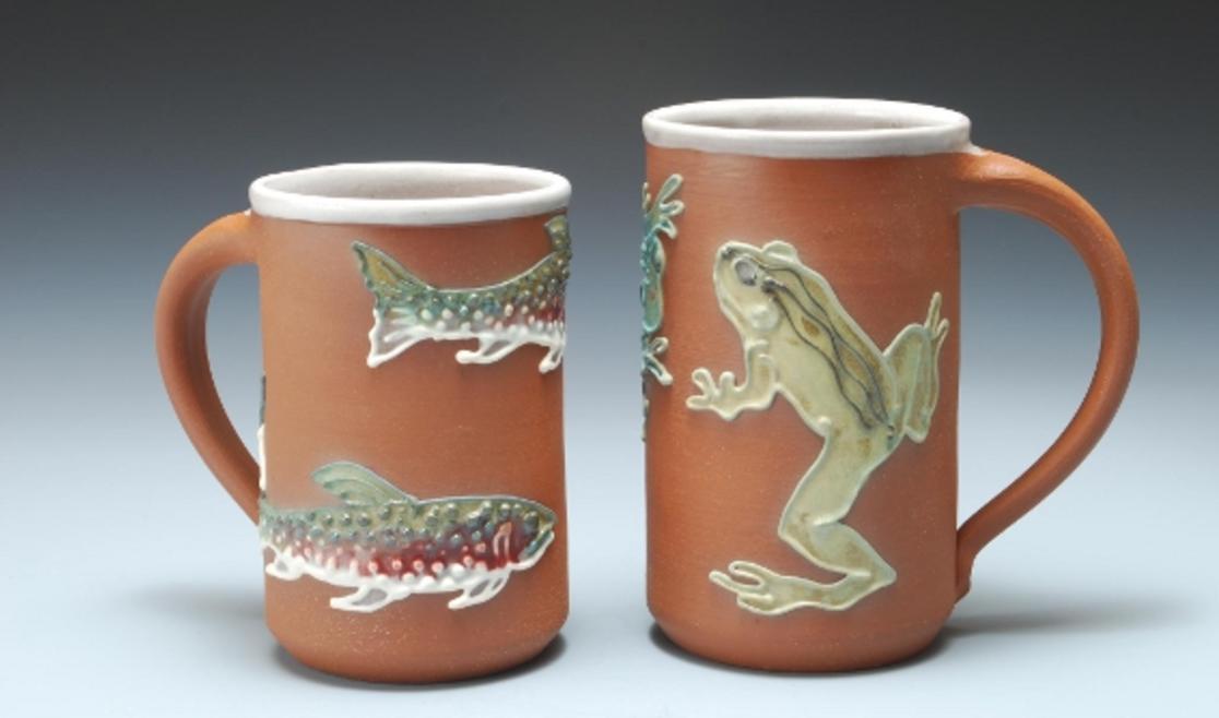Maggie Black Pottery mugs
