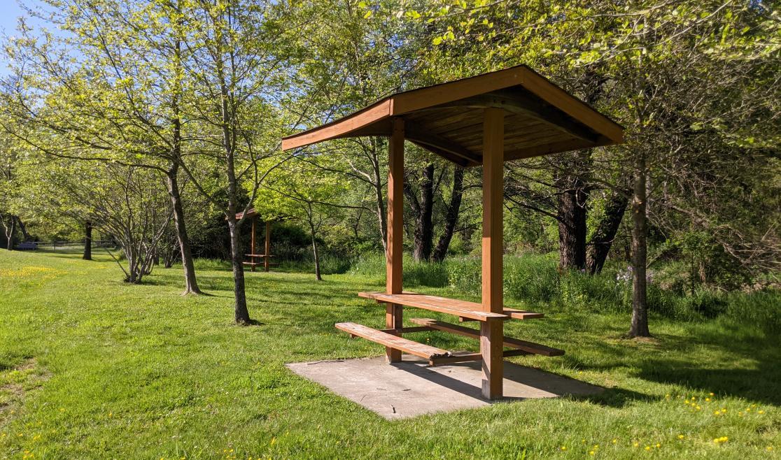 Picnic Tables at Clawson-Burnley Park