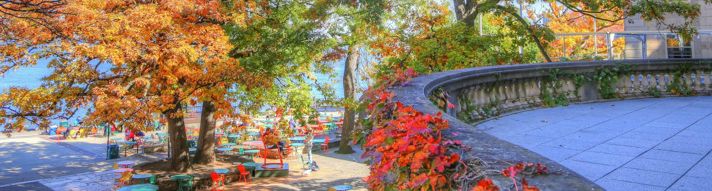 Memorial Union Terrace in Fall