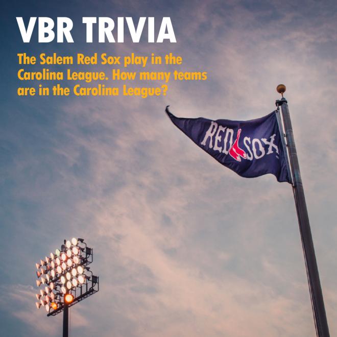 VBR Trivia - Salem Red Sox - Carolina League