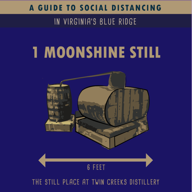Twin Creeks Distillery - Moonshine Still - Social Distancing