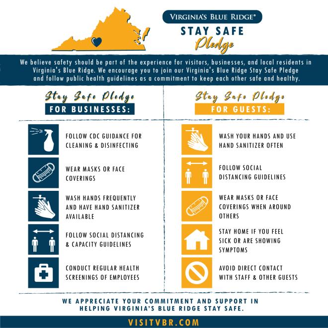 Virginia's Blue Ridge Stay Safe Pledge