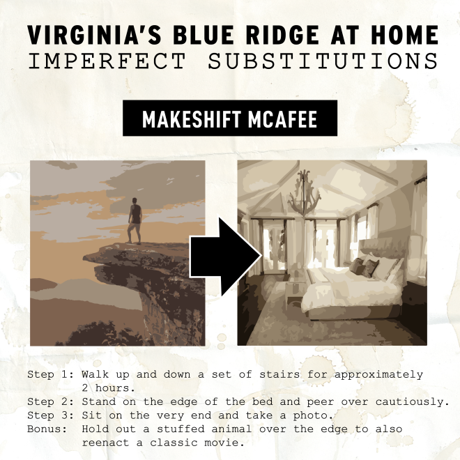 Virginia's Blue Ridge at Home - McAfee Knob Substitute