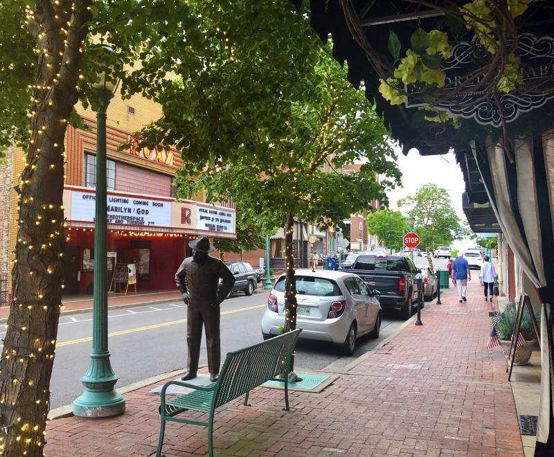 Franklin Street with art, theatre, and shops