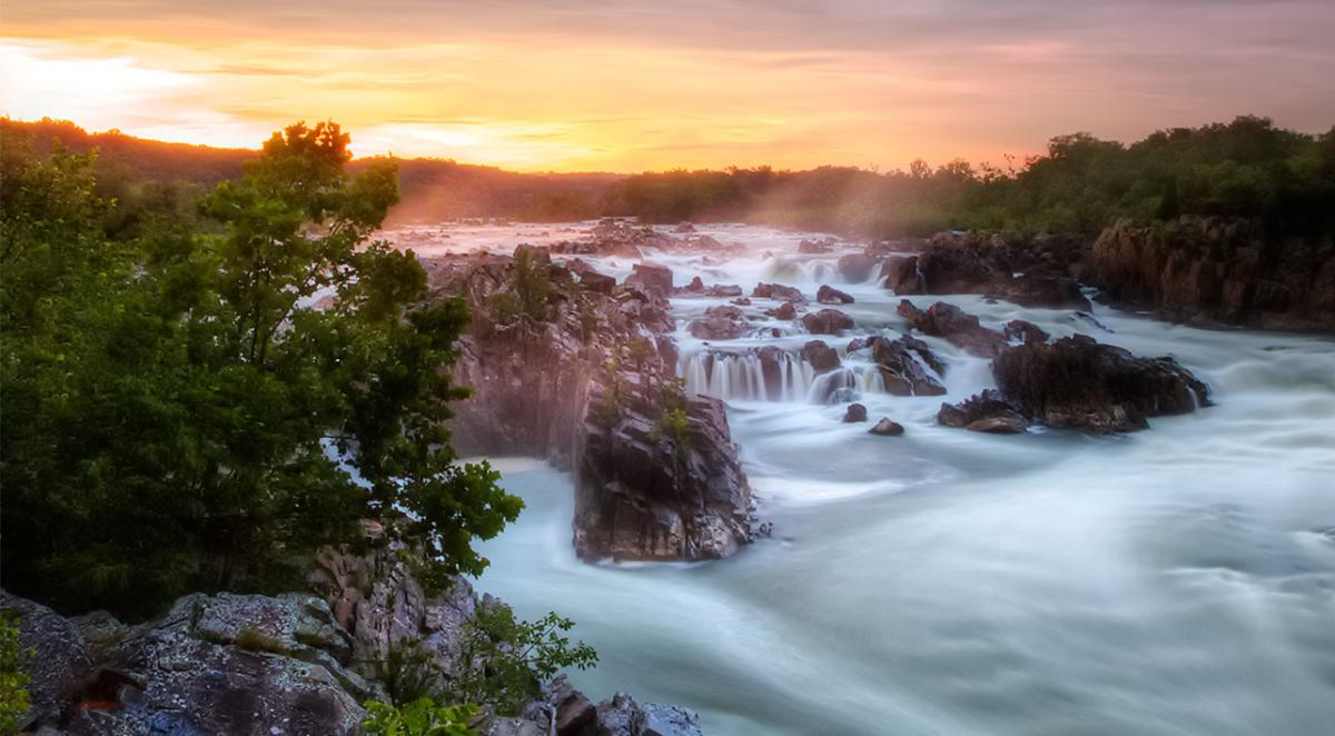 Great Falls Park - spring and summer header