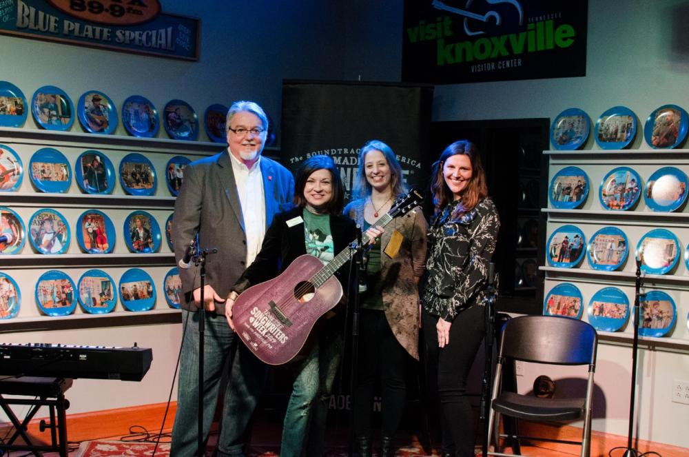 TDTD and Visit Knoxville Team showcase the Tennessee Songwriters Week Guitar