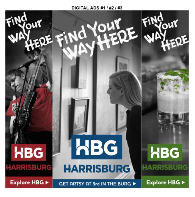 ExploreHBG Launch - Teaser and Reveal Campaign Digital Ads