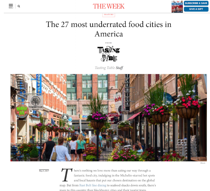 The 27 Most Underrated Food Cities