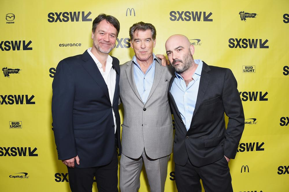 "Executive Producer Kevin Murphy, Actor Pierce Brosnan, and Co-Creator/Executive Producer Philipp Meyer attend the ""The Son"" premiere at SXSW 2017"
