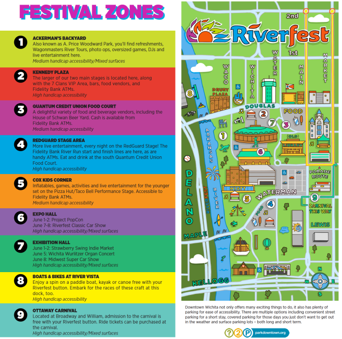 Riverfest 2019 Complete map of festival grounds