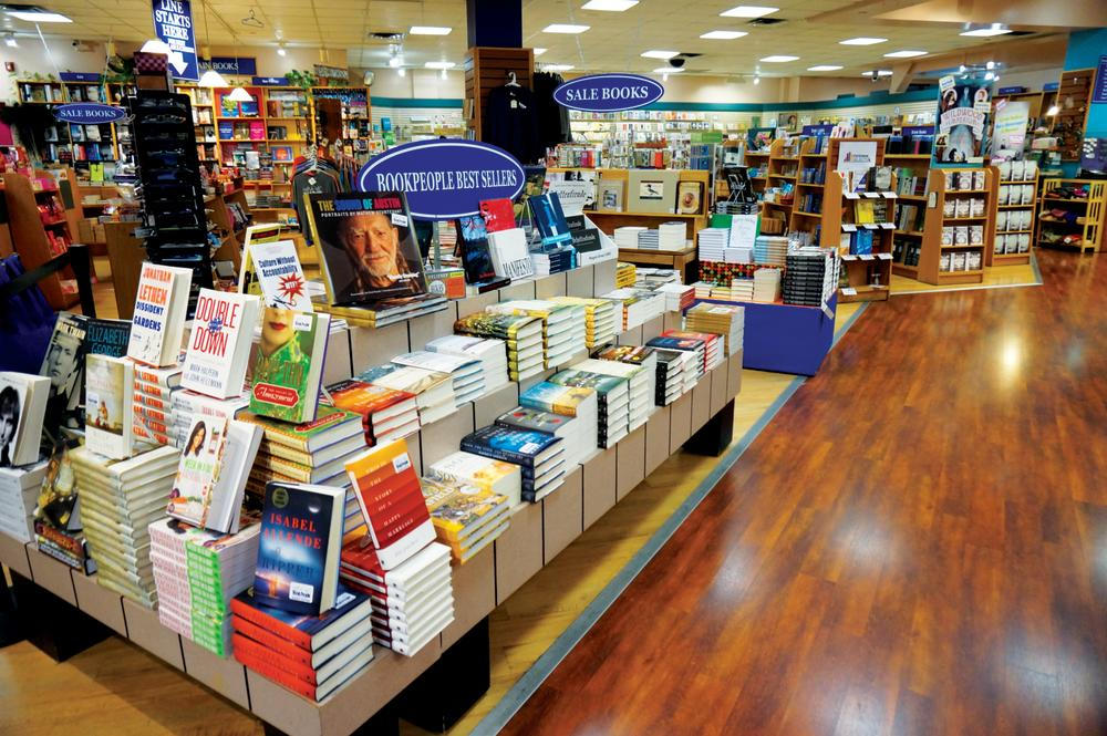 Books on table at BookPeople
