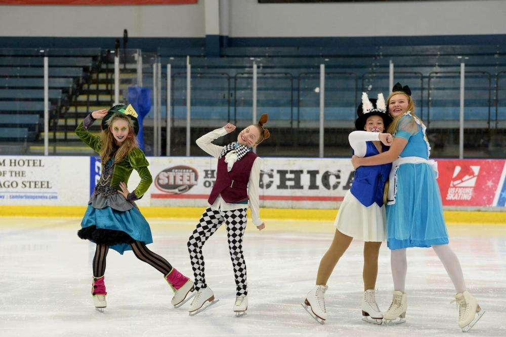 Ice Skaters Perform for Theatre on Ice