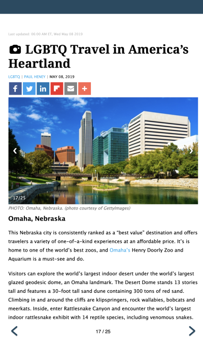 LGBTQ Travel in Omaha - TravelPulse.com