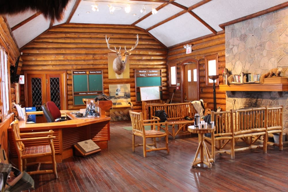 Inside of Parks Canada Riding Mountain National Park Visitor Centre