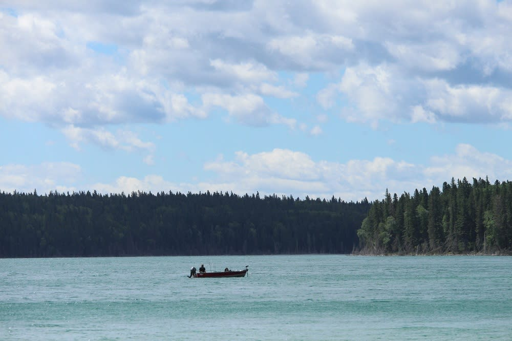Boat on East Blue Lake, Duck Mountain Provincial Park, Manitoba