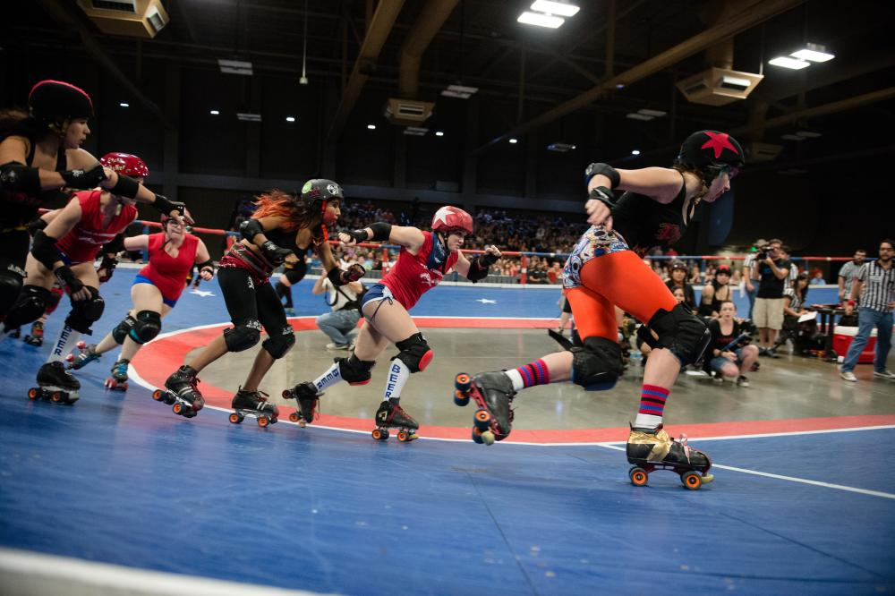 Banked Track texas roller derby TXRD in austin texas