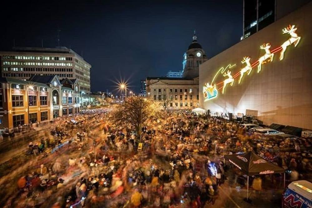 DO NOT USE Kevin Mullett Downtown Fort Wayne Santa and His Reindeer Holiday Display Lighting #MyFortWayne Photo