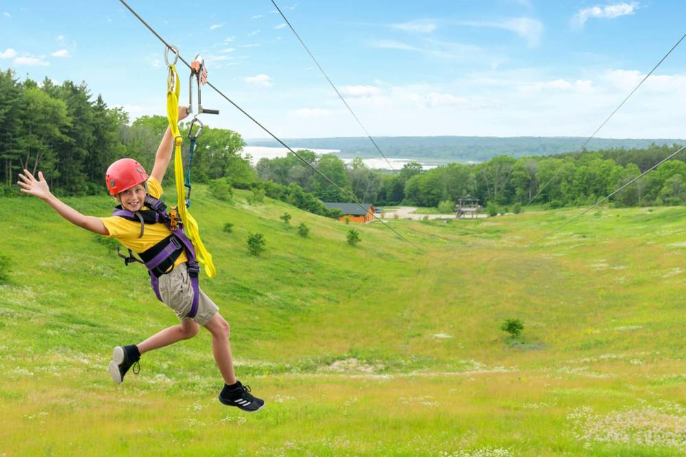 Young Kid Ziplining