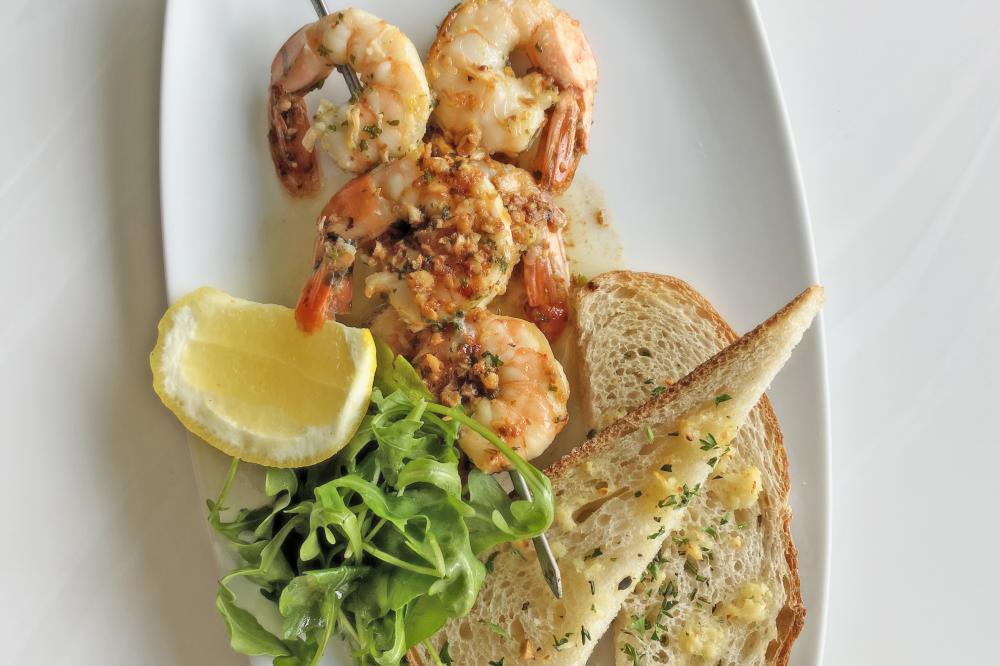 Grilled Shrimp Skewer Scampi