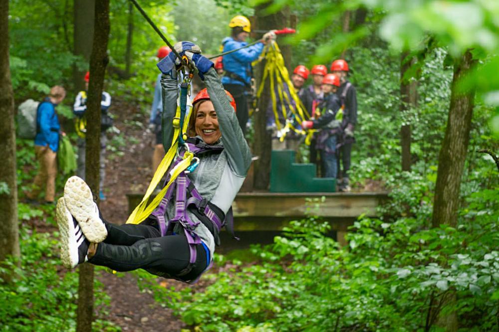 Ziplining through the canopy