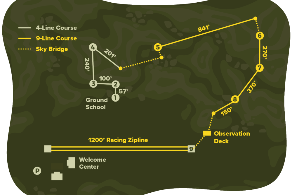 Zipline Course Map
