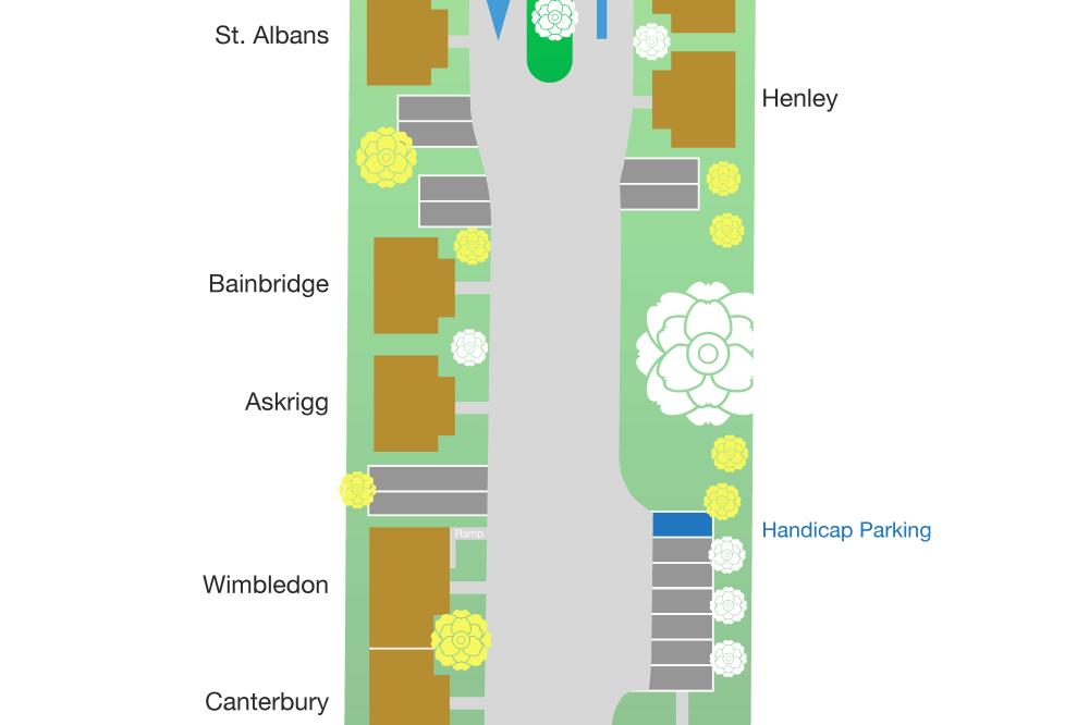 SevenOaks parking and cottage layout.