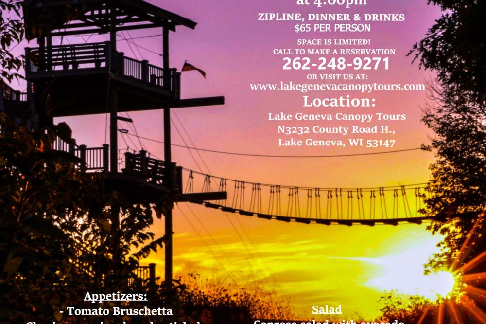 Zipline & Dine: Summer Edition
