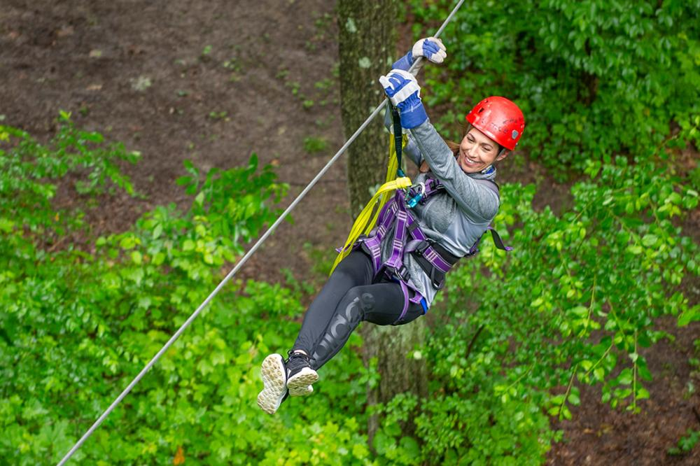 Ziplining through the canopy