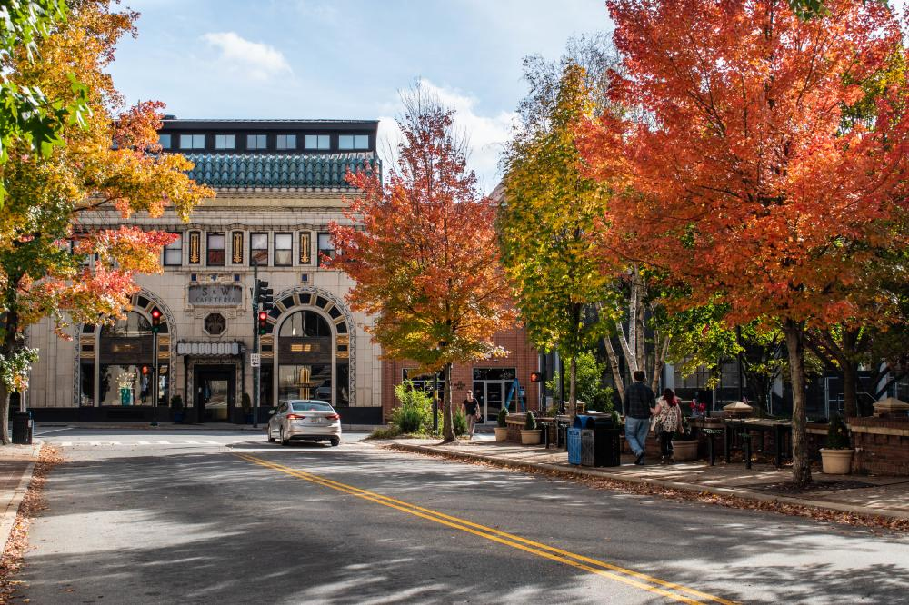 Fall Color Downtown Asheville November 1, 2018