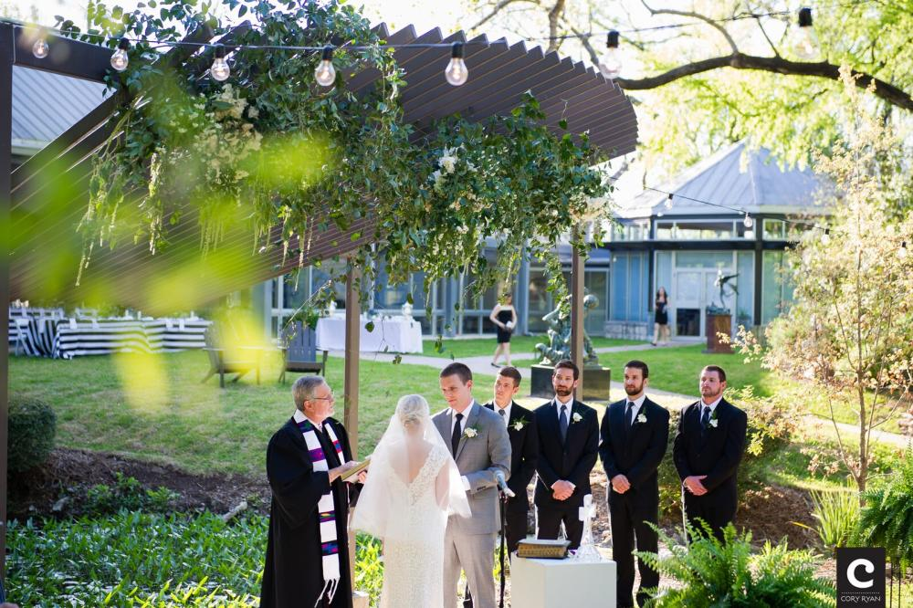 Wedding at the UMLAUF Sculpture Garden in Austin Texas