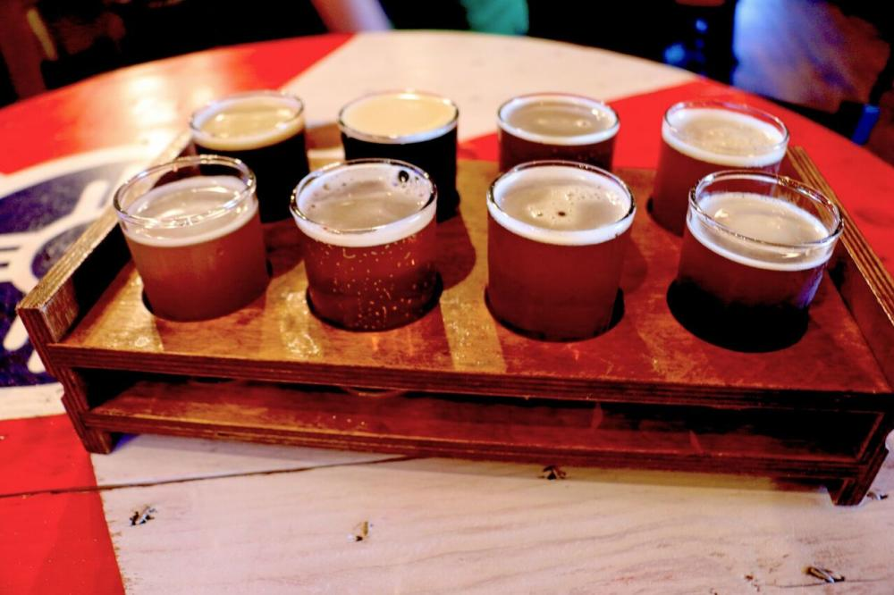 River City Brewing flight