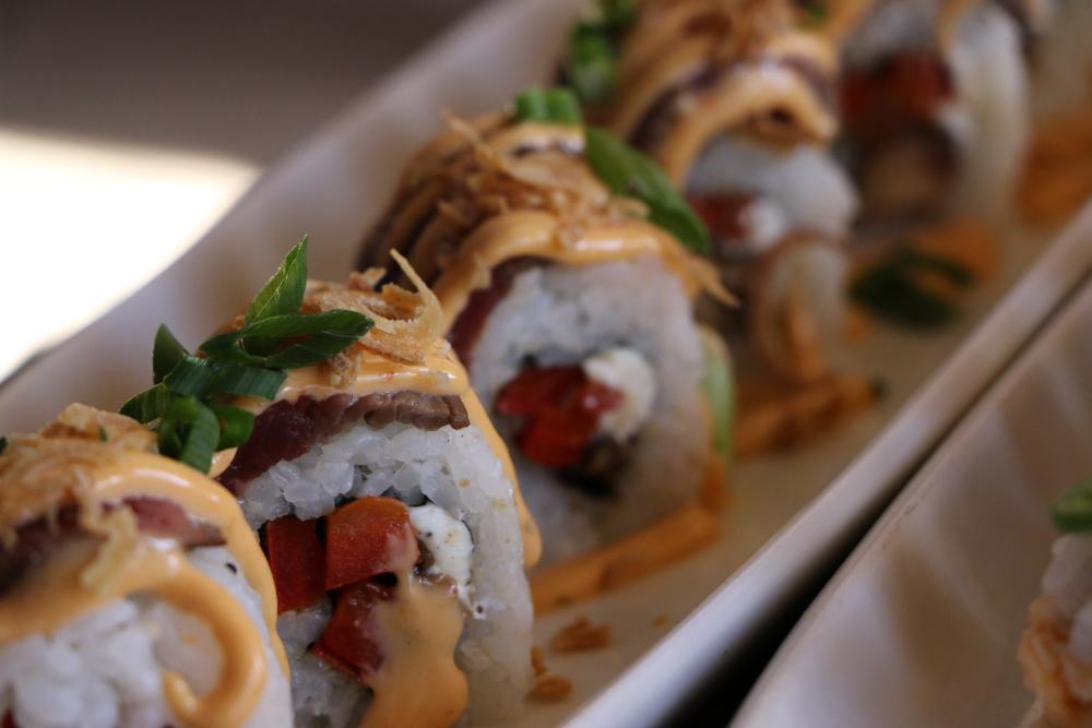 Texas Cheese Steak Maki from Rain premiere sushi bar