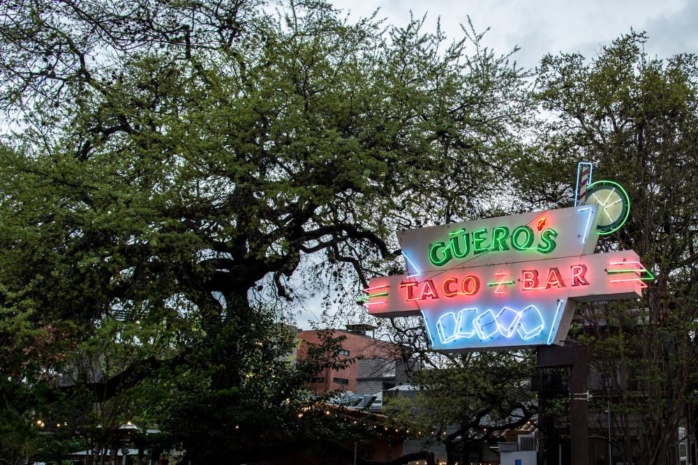 Neon Sign at Gueros Taco Bar on SoCo