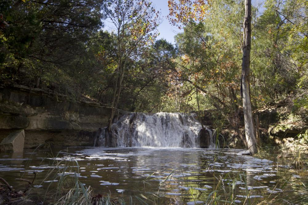 Waterfall at Wild Basin Wilderness Preserve in Austin Texas