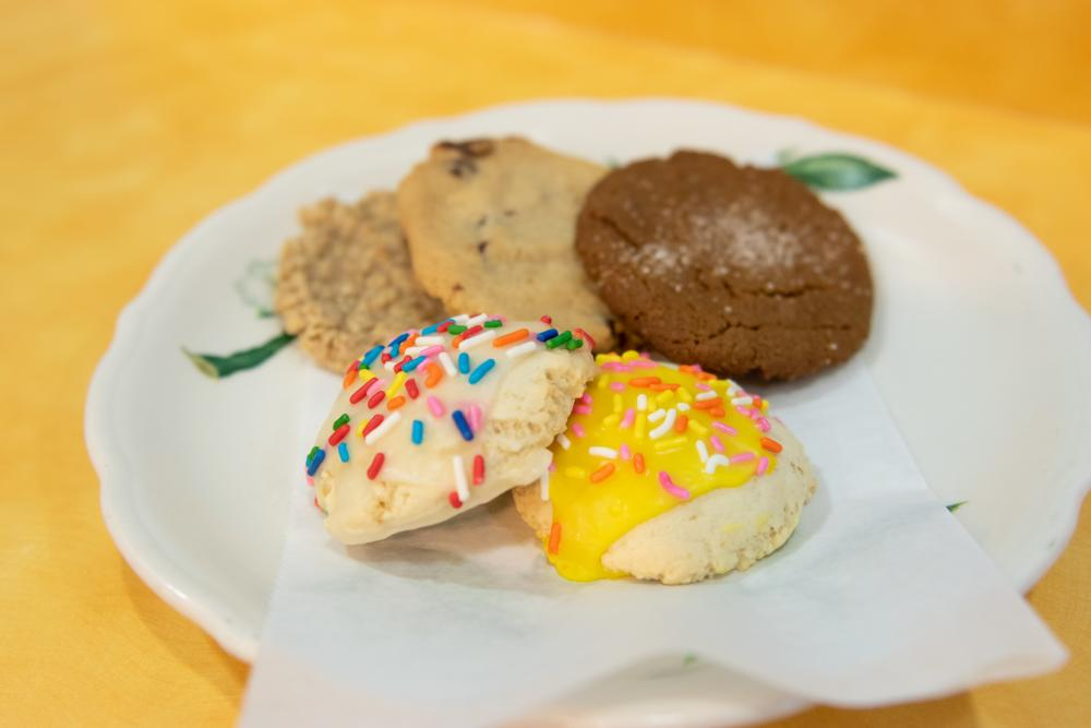 Cookies on a plate at Pembroke Bakery in Fort Wayne, Indiana