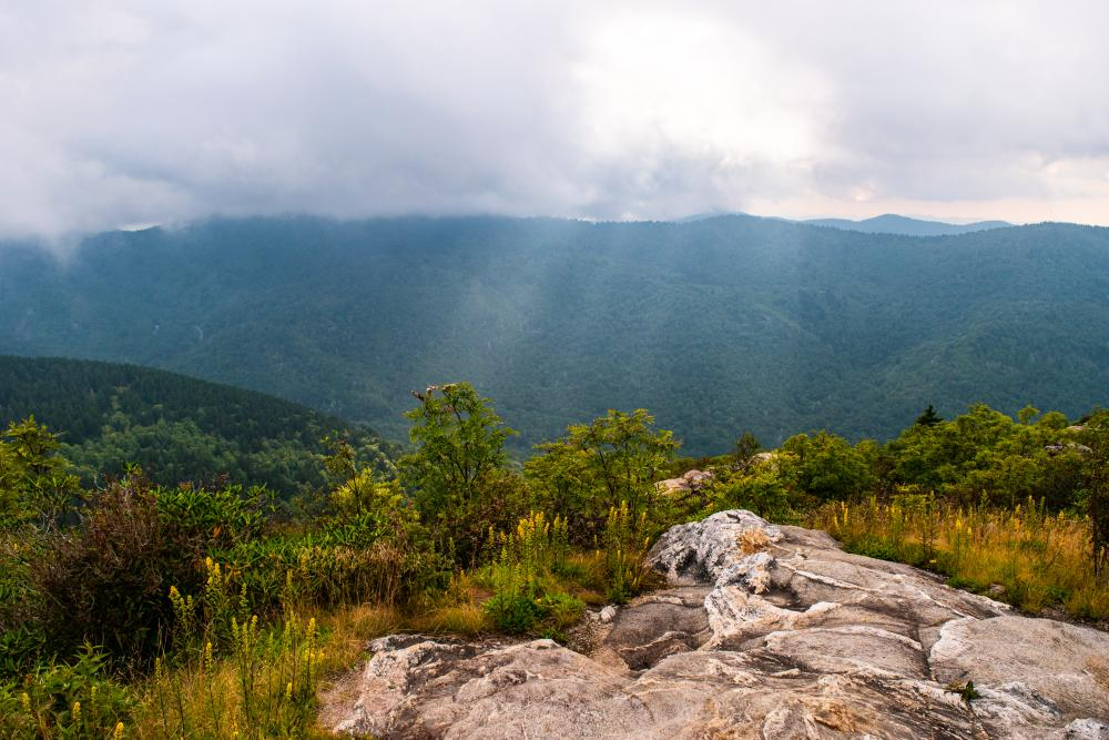 A stormy day at Sam Knob near Asheville, NC