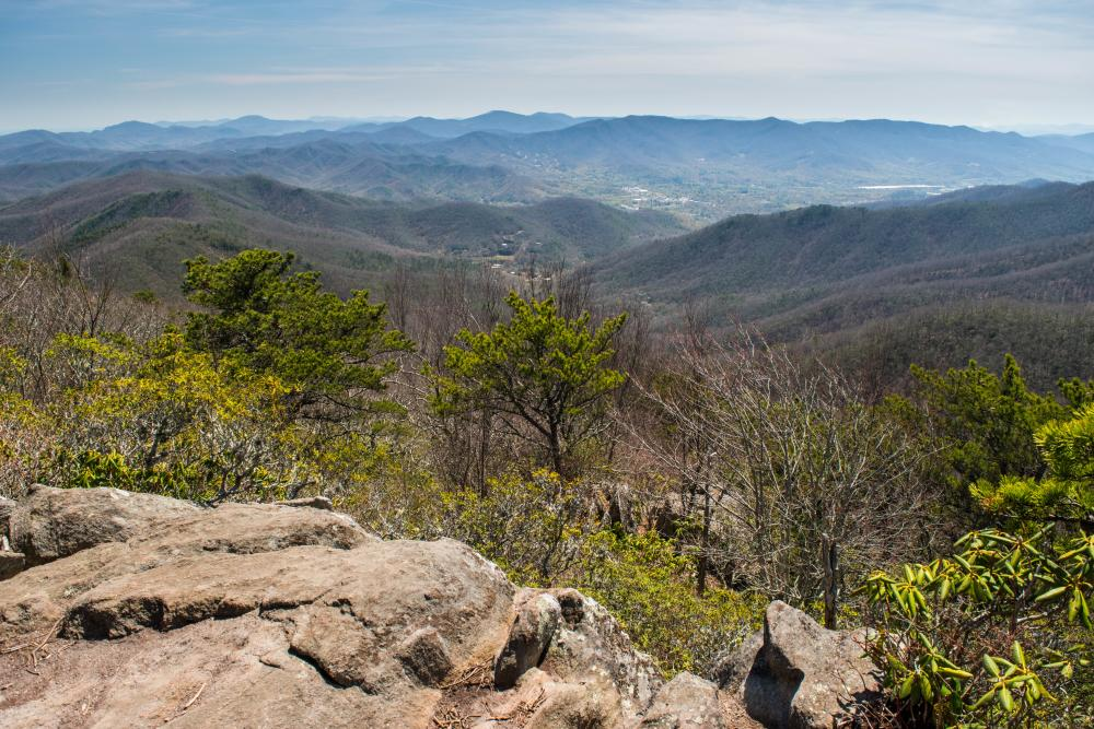The view from the Graybeard Mountain Trail in Black Mountain, NC