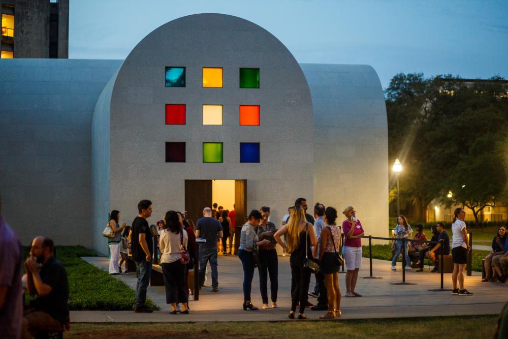 Ellsworth Kellys Austin installation at the Blanton Museum of Art at The University of Texas at Austin.