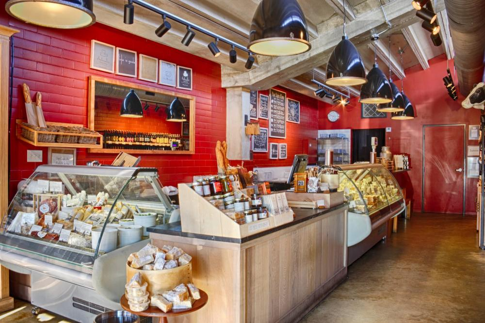 interior of Antonellis Cheese Shop in austin texas
