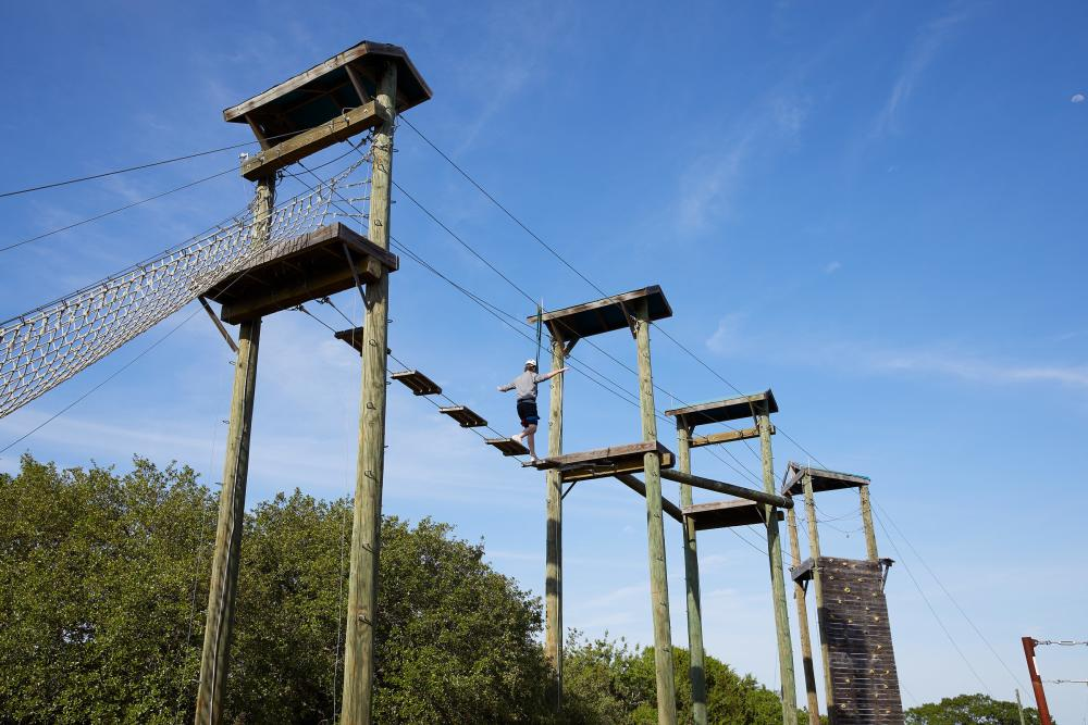 ropes Challenge Course at Miraval resort and spa in Austin.texas