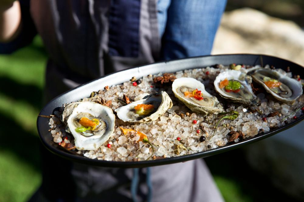 oysters from contigo catering in austin texas