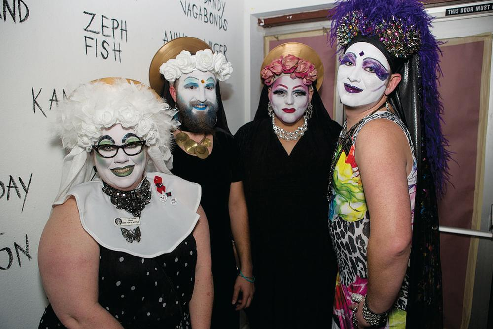 artists in costume and drag at OUTsider Fest