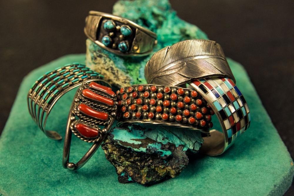 vintage turquoise bracelets from Uncommon Objects in austin texas