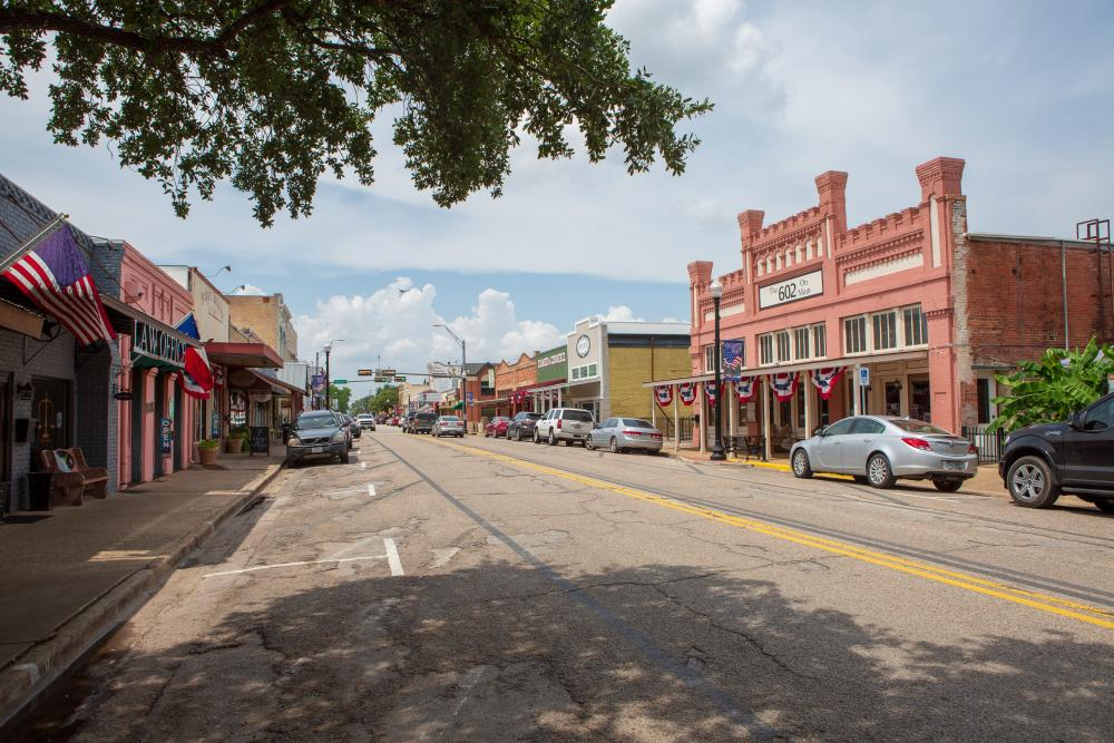 street view of Downtown Bastrop Texas near austin texas